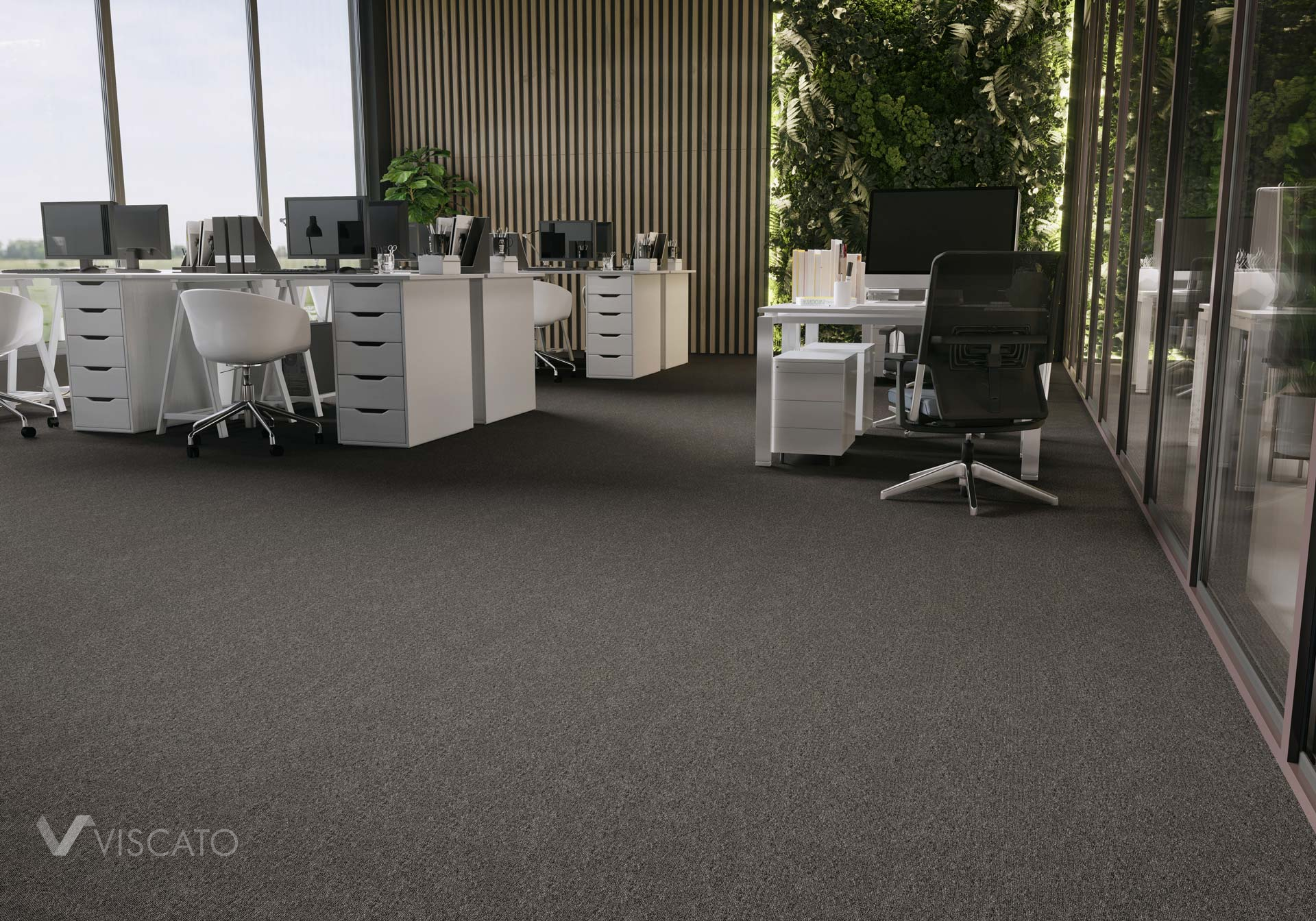 Black carpet, 3D rendering