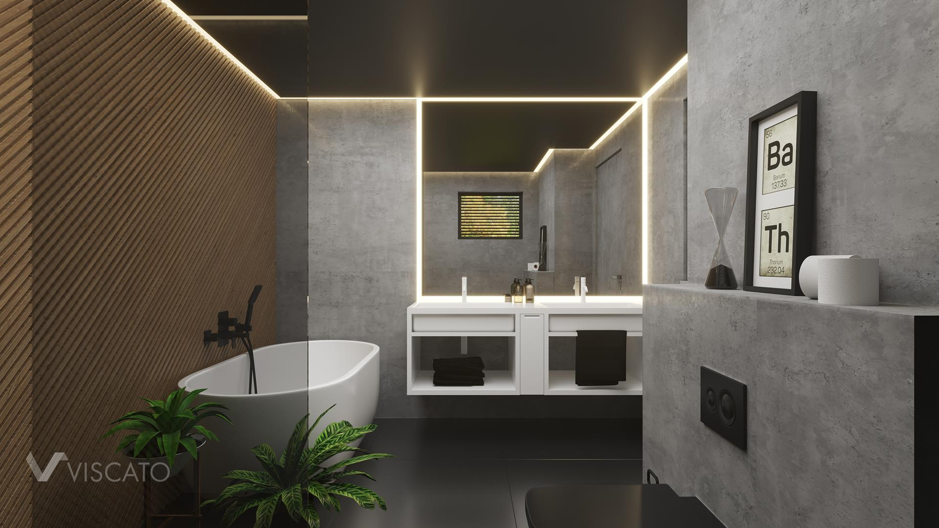 Bathroom interior, Viscato 3D