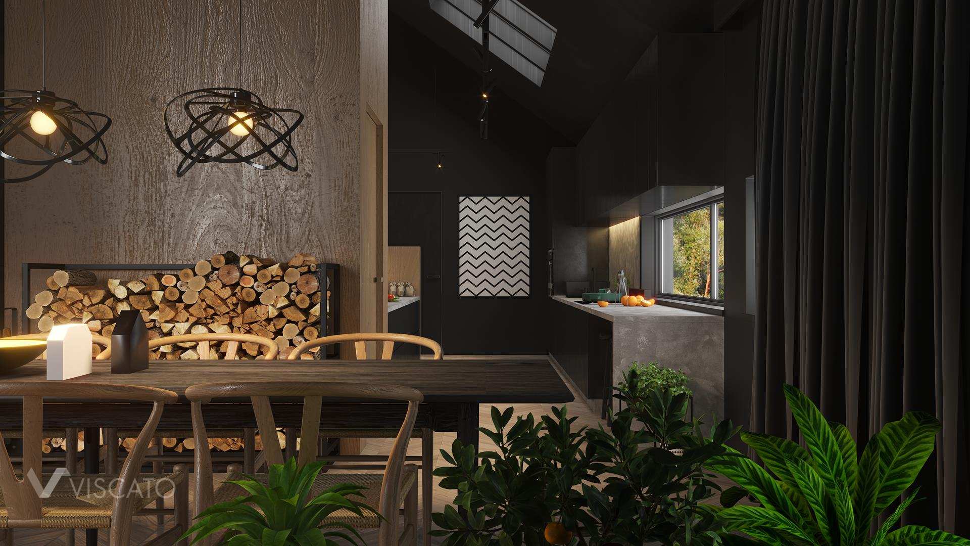 Dining table, 3D Rendering