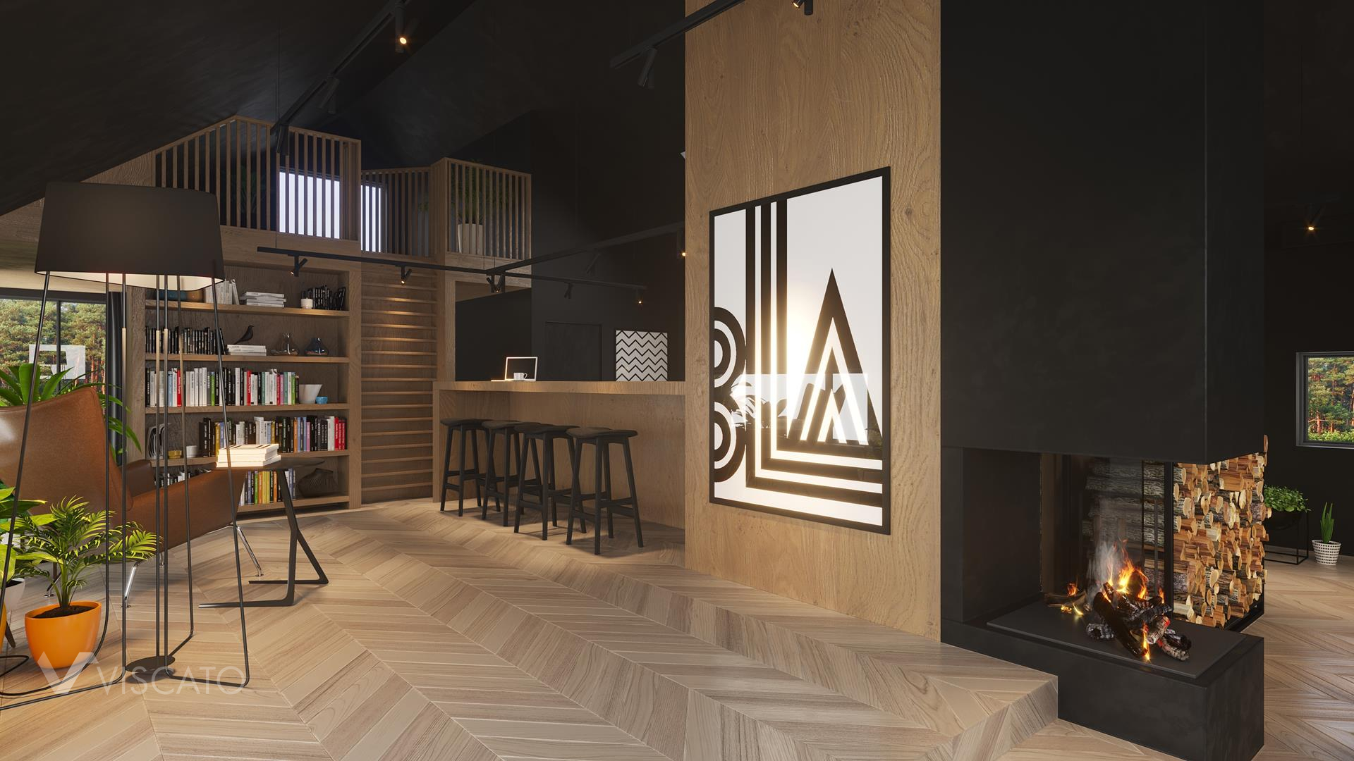 Wall picture, 3D Interior Visualization