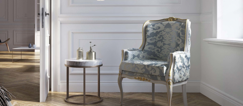 3D chair in classic style with ornaments